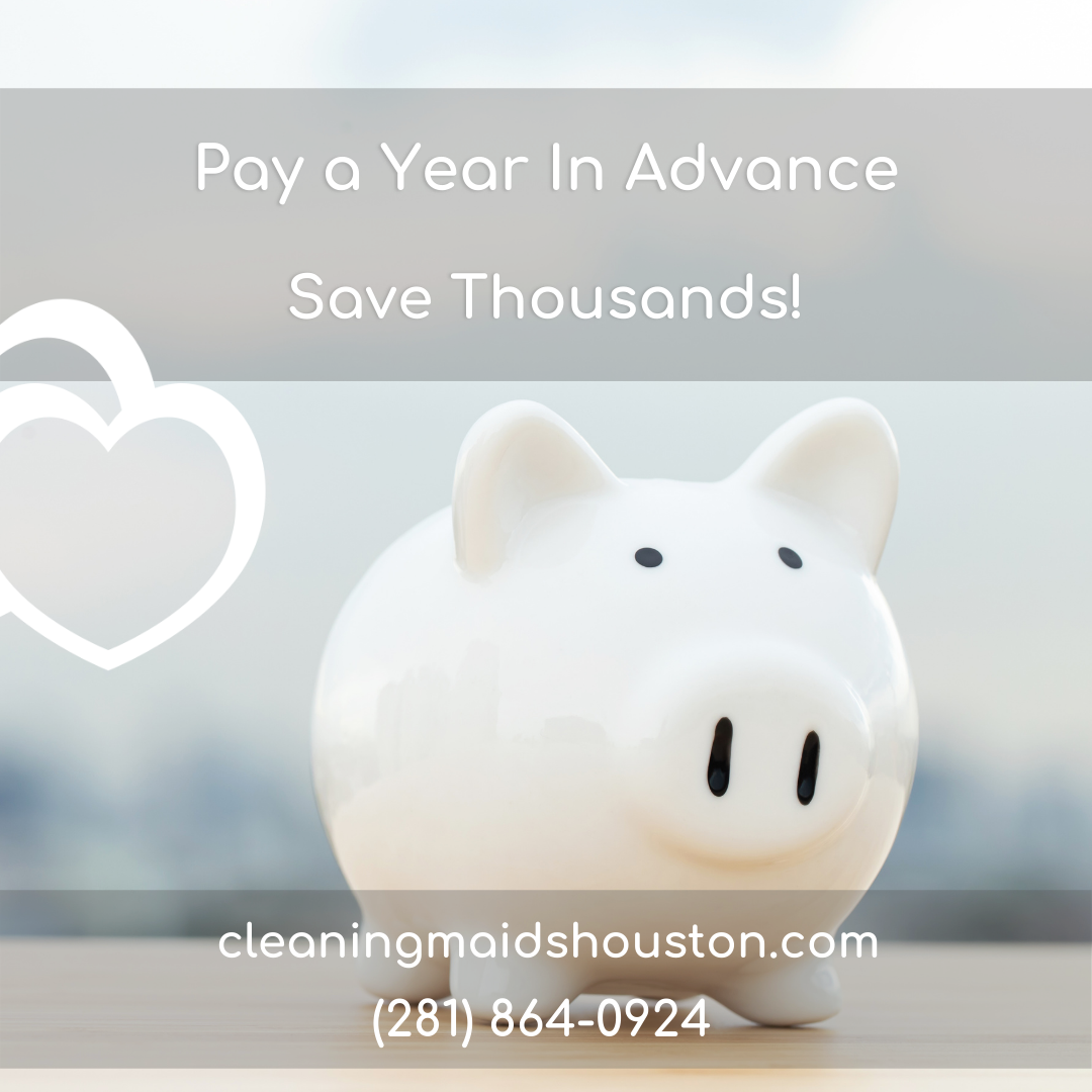 Save when you pay for a full year of cleaning in advance